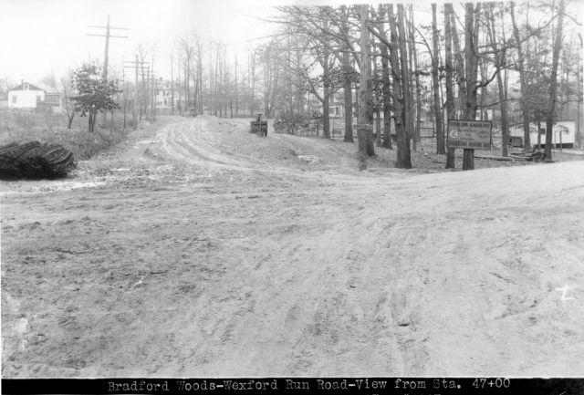 Dirt road at Bradford and Wexford Run roads from 1927
